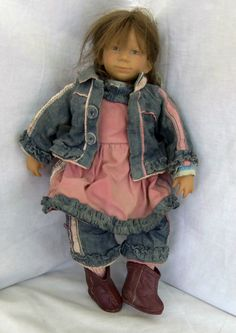 ANNETTE HIMSTEDT FINA KLEINE VINYL/CLOTH  2004 CLUB DOLL Annette Himstedt, Dolls For Sale, Club, Denim, Best Deals, Jackets, Shopping, Clothes, Ebay