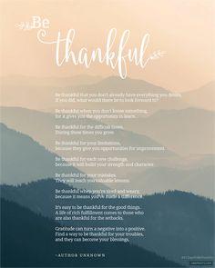 31 Days Of Thankfulness