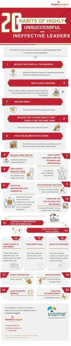 Avoid these bad leadership habits