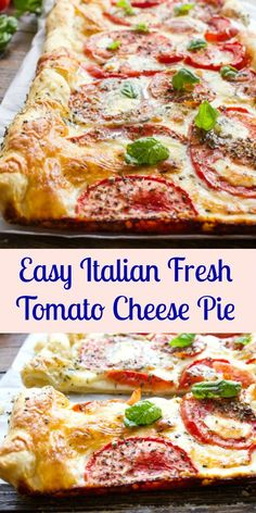 Italian Fresh Tomato Cheese Pie, a delicious Italian healthy summer savory pie recipe, the perfect appetizer or main dish.Easy Italian Fresh Tomato Cheese Pie, a delicious Italian healthy summer savory pie recipe, the perfect appetizer or main dish. Fresh Tomato Recipes, Veggie Recipes, Vegetarian Recipes, Dinner Recipes, Cooking Recipes, Pizza Recipes, Potato Recipes, Casserole Recipes, Crockpot Recipes