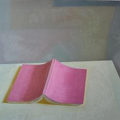 "Emil Robinson  Pink Book, 2011, oil on panel, 24"" x 24"""