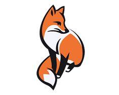 painted fox tattoo design