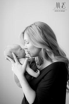 West Chester, PA Newborn Baby Portrait Photographer | Black and White Newborn Photography | Baby and Mama Photograph | Media, PA Family and Newborn Photography