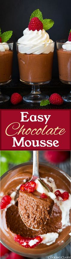 Easy Chocolate Mouss