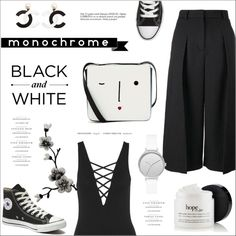 How To Wear Black and White. Outfit Idea 2017 - Fashion Trends Ready To Wear For Plus Size, Curvy Women Over 20, 30, 40, 50