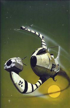 "Chris Foss ""Catchworld"" by Chris Boyce 1977"