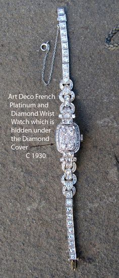 Antique Art Deco Diamond Watch♥≻★≺♥
