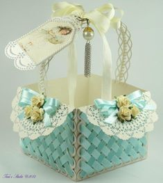 Ribbon Lattice Baskets with Box WPC Cutting Files and Manual Box Cutting/Assembly Instructions
