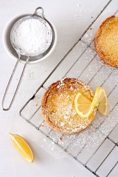 gluten free lemon tarts...substitute the eggs and butter in the recipe to make it dairy and egg free