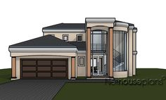 Tuscan 3 bedroom house plan for sale. Explore 3 bedroom modern house plans with photos, unique 3 bedroom double storey house plans with garages and more. Tuscan House Plans, Duplex House Plans, Garage House Plans, Ranch House Plans, Dream House Plans, Modern House Plans, Small House Plans, 4 Bedroom House Designs, Three Bedroom House Plan