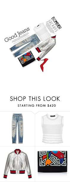 """""""Light topping"""" by selfstylesuccess on Polyvore featuring R13, Thakoon, Gucci, Mola SaSa, Le Silla and bomberjackets"""