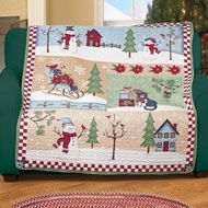 Quilted Country Christmas Patchwork Throw Red and White Border 60 x 50 Inch Snowman Christmas Decorations, Christmas Snowman, Christmas Crafts, Discount Home Decor, Christmas Patchwork, Collections Etc, Country Christmas, Stores, Candy Cane