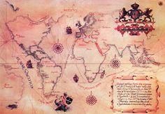 Map of Sir Francis Drake's voyage