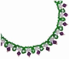 Going to try this with my 3x5mm tube beads and solid color seeds.Free Bead Patterns and Ideas : Simple Sparkle Necklace Pattern - Free pattern