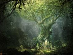 Lord_of_The_Rings_Concept_Art_2d_fantasy_light_forest_wizard_tree_glow_magical_lord_of_the_rings_picture_image_digital art