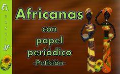 Africanas con papel de periódico | Aprender manualidades es facilisimo.com