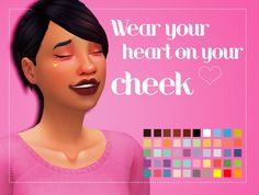 Heart Cheek Mole by Weepingsimmer at SimsWorkshop • Sims 4 Updates