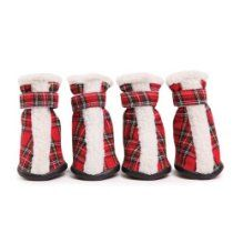 East Side Collection Polyester Holiday Tartan Dog Boots, X-Small, Red Boy Shoes, Girls Shoes, Red Plaid, Tartan, Dog Boots, Pet Furniture, Dog Costumes, Christmas Dog, Toddler Shoes