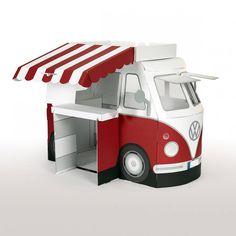 Kampini, per la gioia dei piccini! 😄 Questo meraviglioso furgoncino Volkswagen T1  (conosciuto anche come Bulli) è perfetto per viaggiare, vendere il gelato, allestire uno spettacolo teatrale... ed è fatto di #cartone di alta qualità e super resistente.