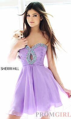 Short Strapless Dress for Prom by Sherri Hill 2944 at PromGirl.com