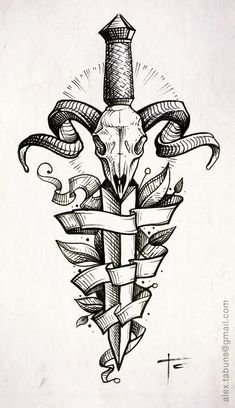 Резултат с изображение за тату череп и меч