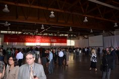An awesome venue inside an airplane hangar at our PDX launch party.