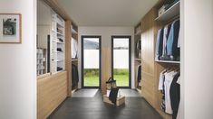 A real dressing room tailored to your exact measurements with loads of drawers that you would barely guess were there. Walking Closet, Made To Measure Wardrobes, Decoration Photo, Interior Architecture, Interior Design, Luxury House Plans, Living Room Storage, Wardrobe Design, Home Reno