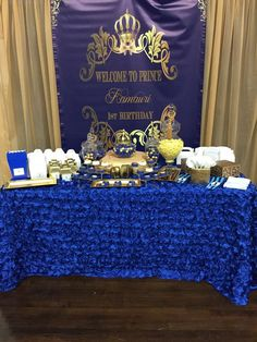 Royal prince birthday party! See more party ideas at CatchMyParty.com!