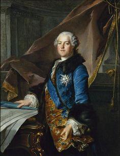 Abel François Poisson de Vandières, 1er. Marquis de Marigny, 2ème. Marquis de Ménars & Pair de France (1727-1781), Directeur-Général des Bâtiments du Roi, Chevalier de l'Ordre du Saint-Esprit. / By Louis Tocqué.