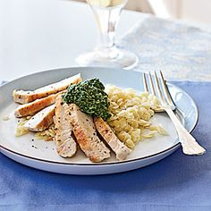 It's hard to find a simpler chicken dinner than sautéed chicken breasts. Simply season with kosher salt and pepper and cook in a skillet in hot olive oil until golden brown. Healthy Chicken Recipes, Healthy Dinner Recipes, Cooking Recipes, Healthy Meals, Paleo Meals, Simple Recipes, Healthy Cooking, Meat Recipes, Delicious Recipes