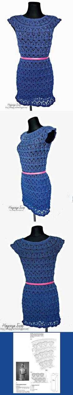 Платье женское крючком