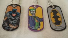New-DC-Comic-Batman-The-Joker-Justice-League-Set-3-of-Dog-tags-Necklaces