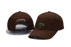 Men's / Women's Lacoste Green Crocodile Logo Embroidery Baseball Adjustable Hat - Brown Lacoste Store, Crocodile Logo, Baseball Cap, New Fashion, Embroidery, Brown, Hats, Originals, Cap