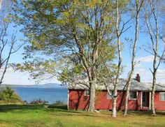 Red Cottage-Located on Herrick Bay in Brooklin, approximately 75 feet away from the water. This cozy 2 bedroom, 1 bath waterfront camp offers beautiful views across Blue Hill Bay to the Flye Island Lighthouse. Rent weekly $900 Vacation Cottages 207-374-3500