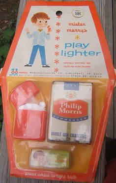 Mister Merry's Play Lighter - Let's play smoking! Amazing that they marketed this to kids. - Thanks Philip Morris - We have a problem here!