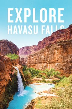Havasu Falls is a breathtaking waterfall, well worth the hike it takes to get there.
