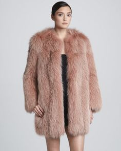 Marc Jacobs Collarless Fox Fur Coat, Rose on shopstyle.com