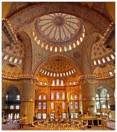 The blue Mosque inside
