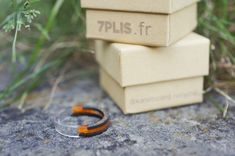 Recycled skateboard by Skateboard, Paper Case, Kraft Paper, Orange, Black Rings, Artisanal, Biodegradable Products, Recycling, Place Card Holders