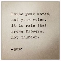 Rumi quotes are quite often quoted by people from every race. The spiritual nature of the Rumi quotes and sayings makes one realize the truth of this world. Motivacional Quotes, Rumi Quotes, Quotable Quotes, Great Quotes, Words Quotes, Quotes To Live By, Qoutes, Not Perfect Quotes, Quotes On Rain