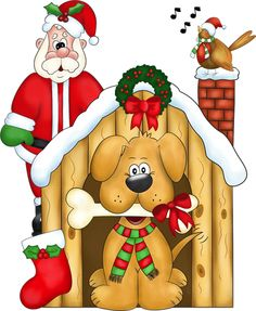 Free Christmas Puppy Graphic - Transparent PNG file and Paint Shop Pro Tube