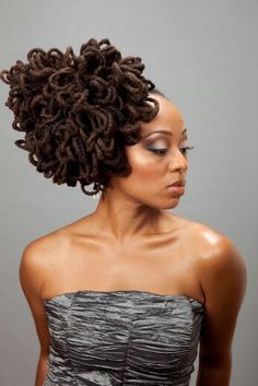 Salon Styles: In Love With Locs - Essence Dreadlock Styles, Dreads Styles, Curly Hair Styles, Natural Hair Styles, Natural Afro Hairstyles, Dreadlock Hairstyles, Cute Hairstyles, Travel Hairstyles, Crowns