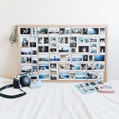 I love this idea with Polaroids! I have so many Polaroids and no idea what to do with them!    #UOoncampus #uocontest