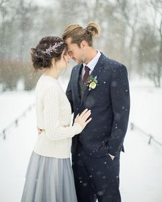 Winter wedding is cute and full of romantic