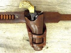 Leather Cowboy Holsters - Old West Leather Frank James Holster and Gun Belt