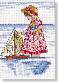 Water Fun - Faye Whittaker Arts, All Our Yesterdays Cross Stitch and Original Art Wesbsite