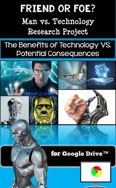 How has the continual development and progression of technology both helped and hindered our society?  This research project and the related extension activities provide all you need in order for students to analyze and examine the complex theme of Man or