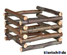 Heuraufe aus Holz zum Aufstellen