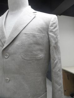 Two Button Mens Custom Suit with Patch Pockets - all Hemp fabric - - Look Good - Feel Good - Do Good!