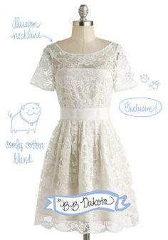 Adrift on a Cloud Dress, #ModCloth